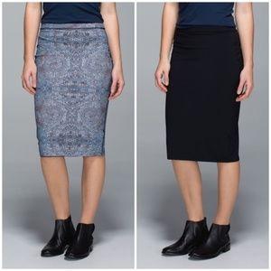 Lululemon Twice as Nice reversible skirt pencil